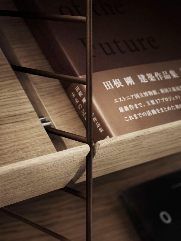 String - Vardagsrum, ek bruna gavlar, detaljbild