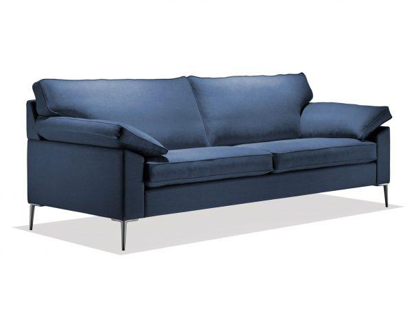 Produktbild från sida på SL 329 i blått tyg från Sören Lund