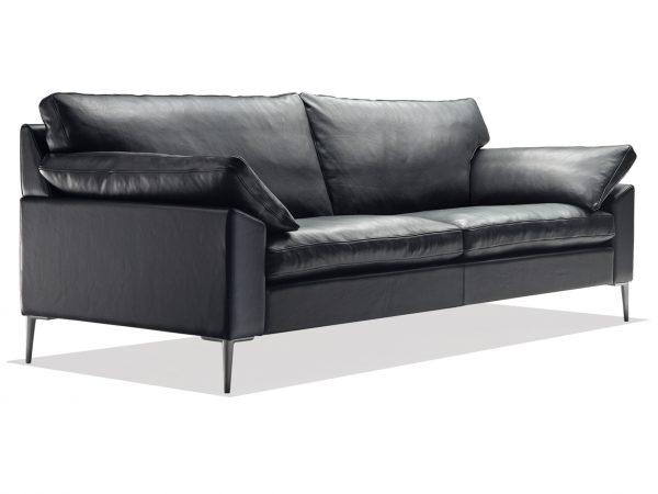 Produktbild från sida på SL 329 i svart läder från Sören Lund