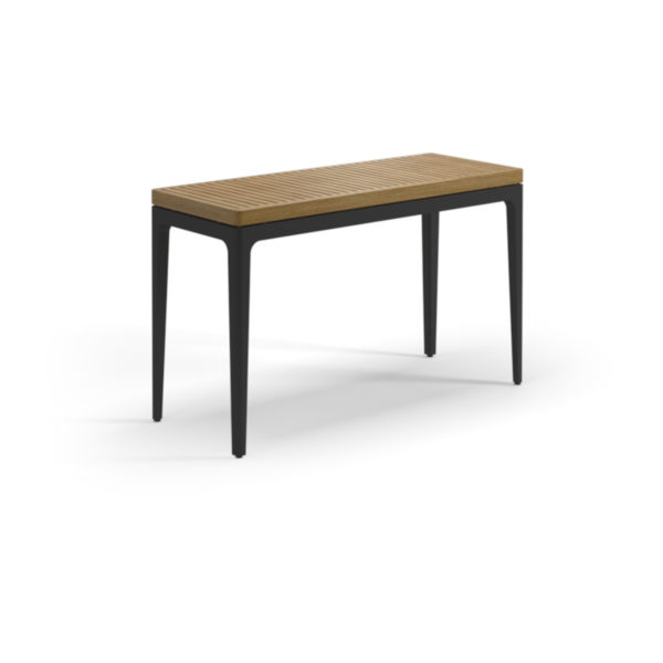 Grid Teak Small Console Table