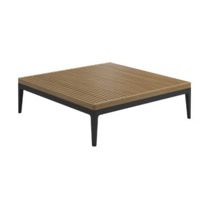 Grid Teak Square Coffee Table