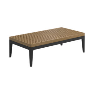 Grid Teak Small Coffee Table