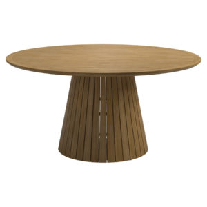 Whirl Teak Dining Table Large with Teak Frame