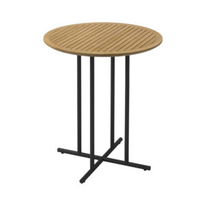 Whirl Teak Round Bar Table