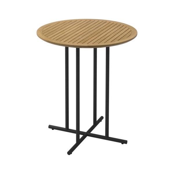 Whirl Teak Round Bar Table