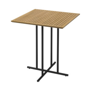 Whirl Teak Square Bar Table
