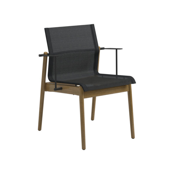 Sway Teak Stacking Chair With Arms