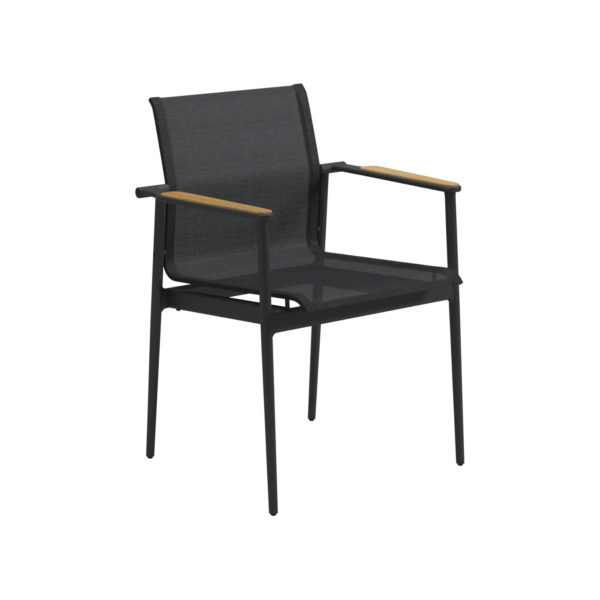 180 Stacking Chair With Teak Arms