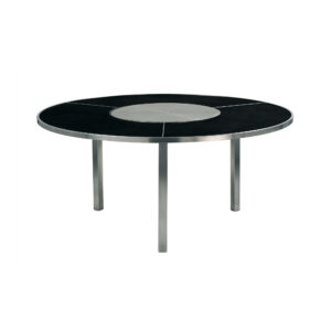 O-Zon Ceramic Round Table 160 with Steel Center