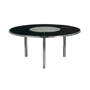 O-Zon Ceramic Round Table 185 with Steel Center