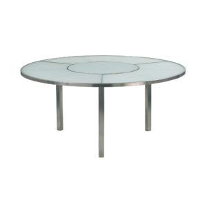 O-Zon Glass Round Table 185