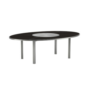 O-Zon Ceramic Oval Table with Steel Center