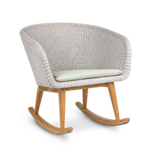 Shell Teak Easy Rocking Chair