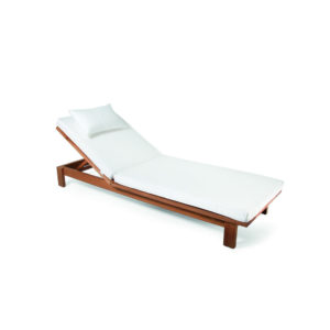 Skanör Sun Lounger with Wheels