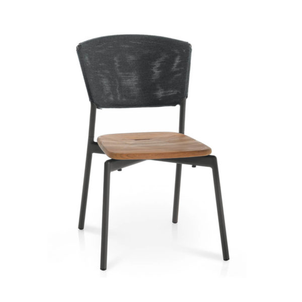 Piper Batyline Chair with Teak Seat