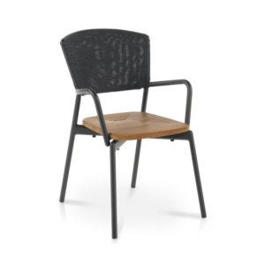 Piper Batyline Armchair with Teak Seat