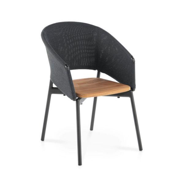 Piper Batyline Comfort Chair with Teak Seat