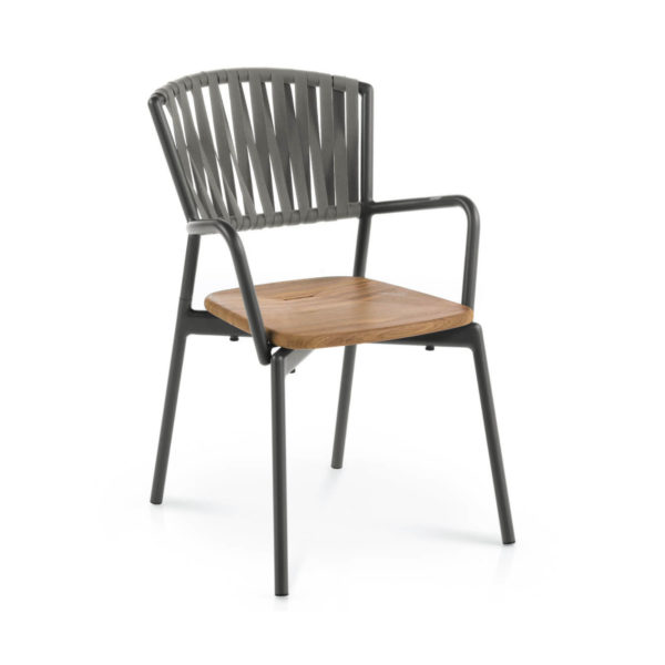 Piper Belt Armchair with Teak Seat