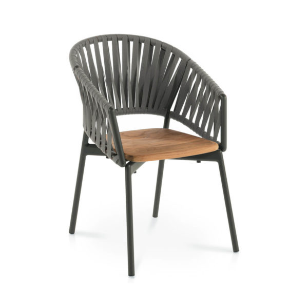Piper Belt Comfort Chair with Teak Seat