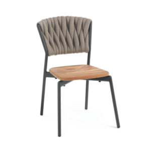 Piper Padded Belt Chair with Teak Seat