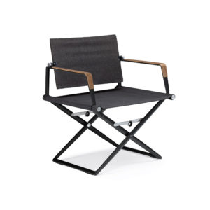 SEAX Lounge Chair with Wooden Armrests